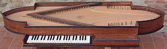 Oval spinet - Facsimile of 1690 oval spinet by Tony Chinnery and Kerstin Schwarz
