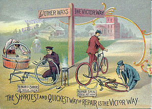 Overman Wheel Company - Victor bicycle advertisement
