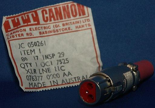 cannon xlr plug
