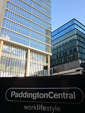 Paddington Waterside - Two Kingdom Street from the north