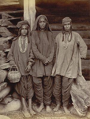Pahari people - Pahari women at Kashmir 1890 AD