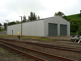 Pahiatua railway station - Pahiatua railway station Railcar Storage Shed and Workshop. This building was constructed by the Pahiatua Railcar Society and was completed in 2001.
