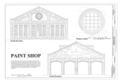 Paint Shop - North and South Elevations and Window Detail - Western Railway of Alabama Montgomery Rail Shops, 701 North Perry Street, Montgomery, Montgomery County, AL HAER AL-186 (sheet 8 of 14).png