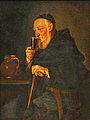 Painting, European, Monk Drinking Wine XIXe.jpg