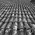 Pannendak, bestaande uit holle en bolle dakpannen, tijdens restauratiewerkzaamheden - Bornwird - 20329548 - RCE.jpg