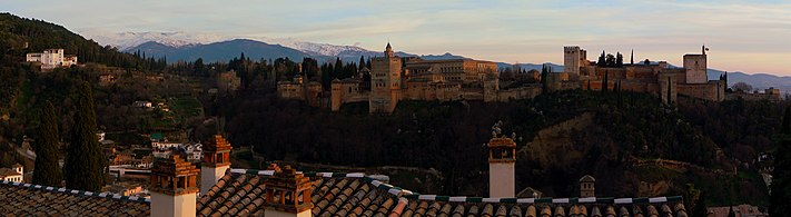 Panorama of Alhambra at dusk.jpg