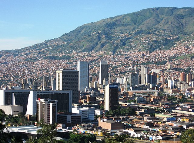 The city of Medellín, where Escobar grew up and began his criminal career.