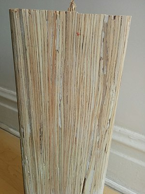 Parallel strand lumber -  PSL grain from the side