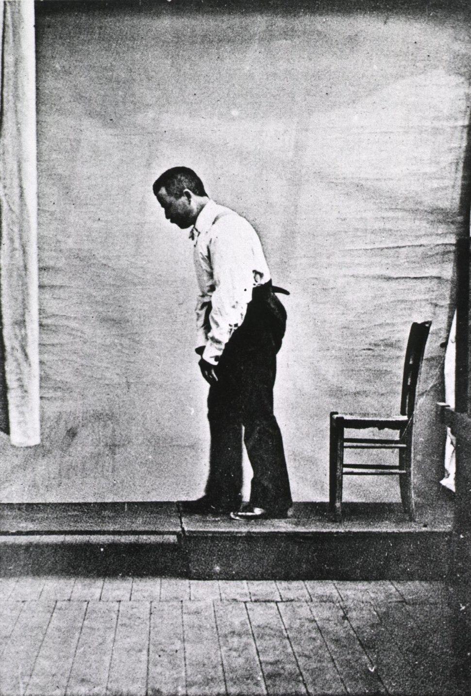 Paralysis agitans-Male Parkinson's victim-1892