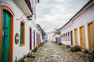 Paraty - A street in the historic center of Paraty