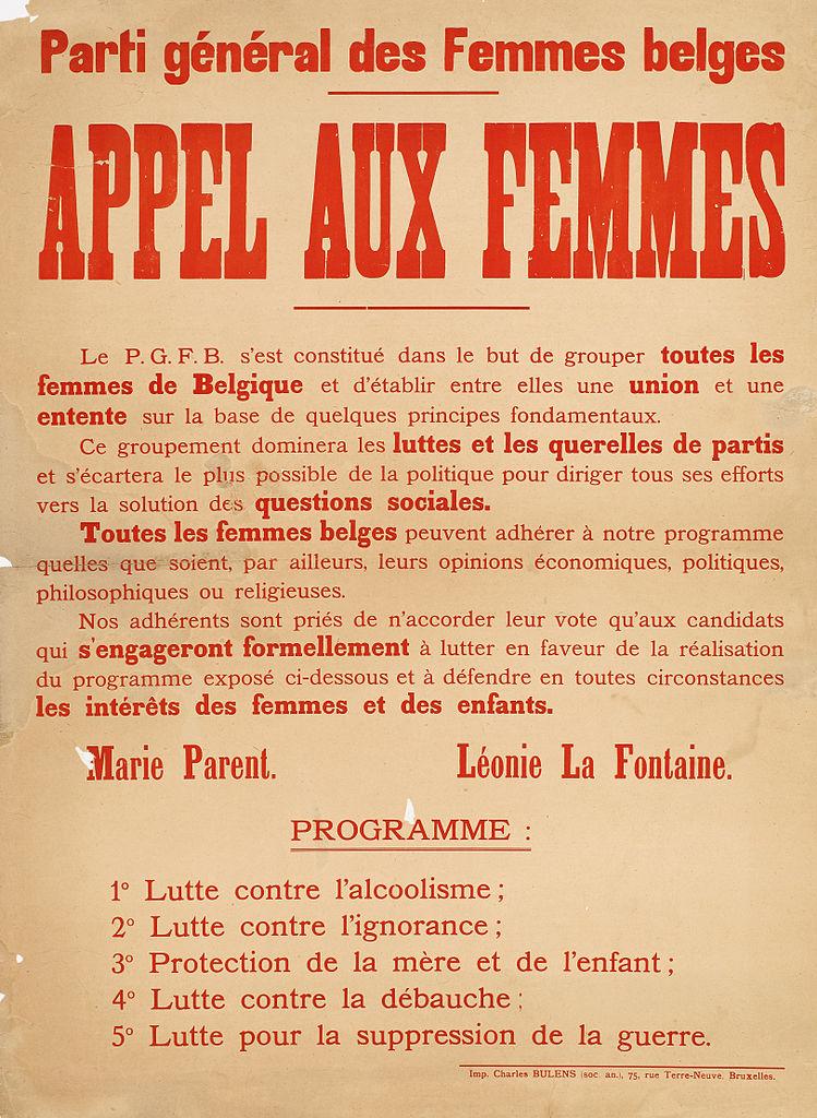 file parti g n ral des femmes belges appel aux femmes jpg wikimedia commons. Black Bedroom Furniture Sets. Home Design Ideas