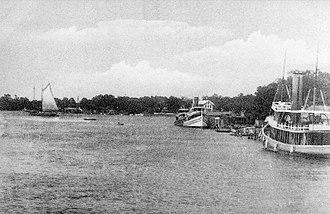 Pascagoula River - Pascagoula River at Pascagoula, Mississippi, circa 1900