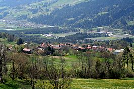 Paspels village in Domleschg