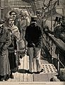 Passengers on a ship undergoing quarantine examination durin Wellcome V0010491.jpg