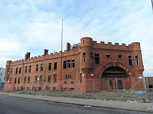 Paterson Armory - Exterior walls were little damaged by fire