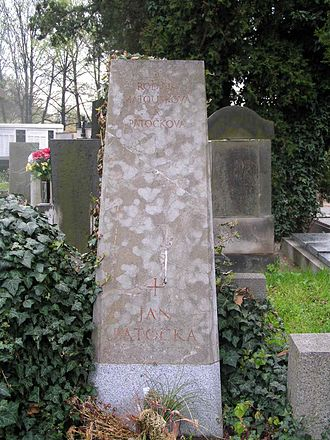 Jan Patočka - Grave of Jan Patočka, Břevnov cemetery, Prague