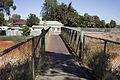 Pedestrian bridge over the Yanco–Griffith railway line in Leeton.jpg