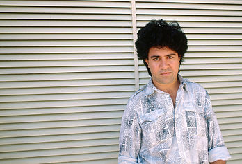 Pedro Almodovar alla Mostra del cinema di Venezia del 1988