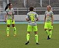 Peggy Nietgen, Anne Hopfengaertner und Anna Kirschbaum BL FCB gg. 1. FC Koeln Muenchen-1.jpg