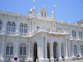 City Hall, Penang - The City Hall is steeped in Edwardian Baroque and Palladian architecture.