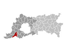 Location of Pepingen in Flemish Brabant