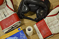 Personal protective equipment is displayed during the Modern Army Combatives Program's Basic Combatives Course Level 1 Jan. 15, 2014, at Davis-Monthan Air Force Base, Ariz 140115-F-HZ705-022.jpg