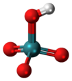 Pertechnetic acid 3D ball.png