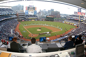 San Diego Padres - Military service-members take to the field prior to the National Anthem being performed during Military Appreciation Day at Petco Park