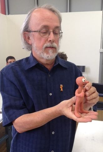 Peter Lord - Lord in 2014 demonstrating Morph