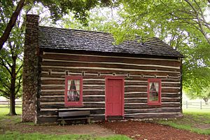 Church of Christ (Latter Day Saints) - A reconstruction of the original Peter Whitmer home in Fayette, New York.