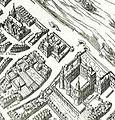 Petit-Bourbon on 1609 map of Paris by Quesnel.jpg