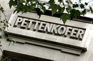 Max Joseph von Pettenkofer - Petteonkofer's name of the LSHTM Frieze in Keppel Street