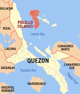 Lage der Insel in der Provinz Quezon