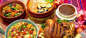 Filipino cuisine - A selection of dishes found in Filipino cuisine