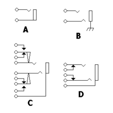 phone connector audio examples of jack configurations oriented so the plug enters from the right the most common circuit configurations are the simple mono and stereo jacks