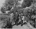 Photograph of President Juan Antonio Rios of Chile and others, evidently touring the grounds at Mount Vernon. - NARA - 199233.tif