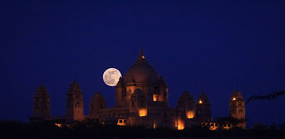 Photograph of the Supermoon at Umaid Bhavan Palace, Jodhpur.jpg