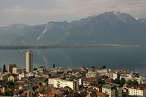 Never Let Me Down - A view of Montreux, Switzerland, where Bowie recorded the album