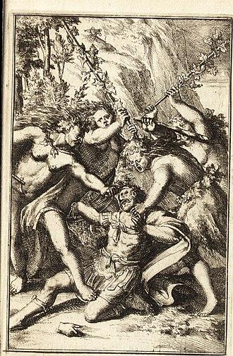 Agave (Theban princess) - Image: Pictura loquens; sive Heroicarum tabularum Hadriani Schoonebeeck enarratio et explicatio (1695) (14781256892)