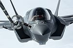 Pictured is the first of the UK's F-35B Lightning II jets to be flown to the UK. MOD 45160015.jpg