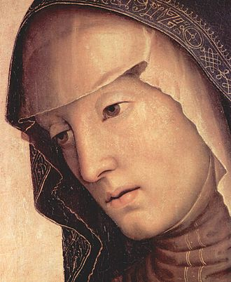 Pietà (Perugino) - Detail of Mary's face.