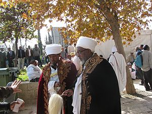 Kahen - Priests at the Sigd in Jerusalem, 2011.
