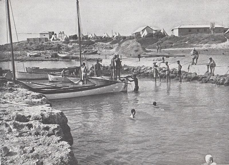 דייגים בחוף עתלית
