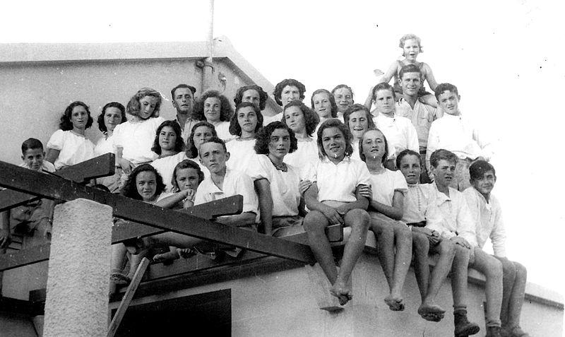 גן שמואל-הקבוצה הראשונה במוסד החינוכי 1948