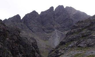 Sgùrr nan Gillean - Sgùrr nan Gillean and the Pinnacle Ridge from Basteir gorge