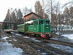 Pishchalskoye peat railway TU4-2620 with passenger train.jpg