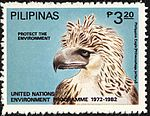 Pithecophaga jefferyi 1982 stamp of the Philippines.jpg