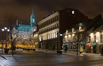 Place Jacques-Cartier - Place Jacques-Cartier on a cold winter's night