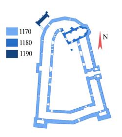 Plan du Krak des Chevaliers 1170 1200.png