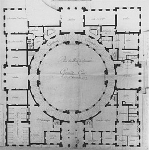 Poppelsdorf Palace - Image: Plan of the rez de chaussée (second project) Schloss Poppelsdorf 16 Nov 1716 Neuman 1994 p 83